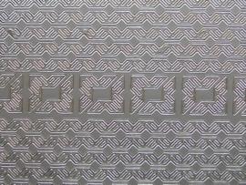 st706- sticker randjes 6mm breed en hoekjes zilver 10x20cm