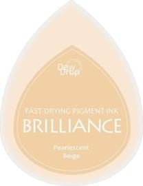 132019/1055- brilliance stempelkussen dew drops pearl beige 3.5x5cm