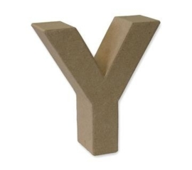 1929 3125- stevige decoratie letter van papier mache - 3D letter Y