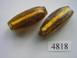 zilverfolie, ovaal 40x15mm 4818