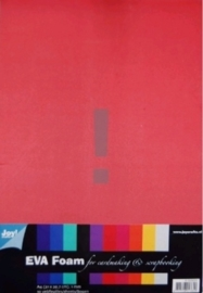 JOY8100/0001- 10 vellen rubberplaatjes / foamplaatjes A4 10 kleuren