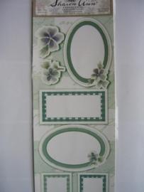 5082- kaders en bloemen 30x13cm Sharon Ann collection