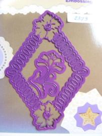 0002373- Joy0034- stencil bloemenkader 13x9.5cm OPRUIMING