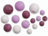 6023 124- 20 stuks houten kralen roze tinten mix