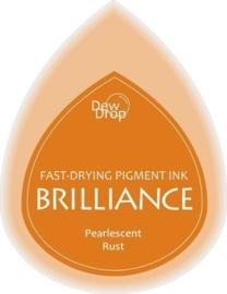 132019/1061- brilliance stempelkussen dew drops pearl rust 3.5x5cm