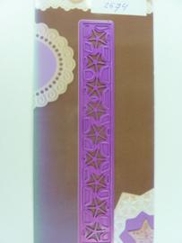 0002574- Joy Crafts stencil nr. 0001 - randje 15x2cm OPRUIMING