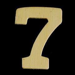 8735 641- 4cm houten cijfer 7