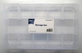 JOY6200/0076- opberg box met 11 vakken 27.5 x 16.5 x 5.3cm