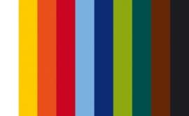8436 990- 10 lapjes vilt van 20x30cm en 1mm dik kleuren assortiment