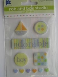 5457- Rob & Bob studio foam backed epoxy stickers baby