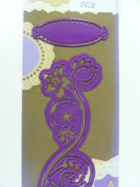 0002562- Joy Crafts stencil nr. 0031 - ornament en label 11.5x5cm OPRUIMING