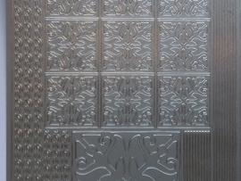 st785-A- stickervel diverse randjes en ornamenten zilver