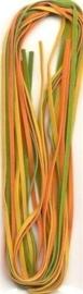 TH12231-3107- 3 imitatie suede veters van elk 2 meter lang en 3mm breed herfst tinten