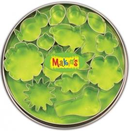 CE117918/7005- Makin`s clay uitstekerset in blik bloemen & blaadjes 15 stuks
