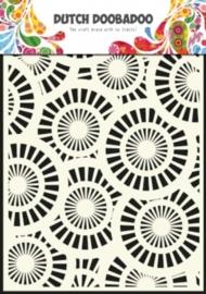 CE185071/5013- Dutch Doobadoo Dutch mask art stencil circles A5
