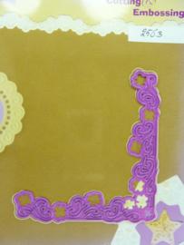 0002563- Joy Crafts stencil nr. 0030 - hoek 9x9cm OPRUIMING