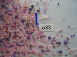 688- mix diverse formaten roze 15gr