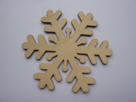 5999.R- houten ornament ijskristal van 9cm breed en 2mm dik OPRUIMING