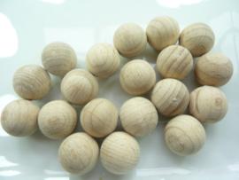 61 161 00 - 50 stuks houten ballen ZONDER GAT 15mm