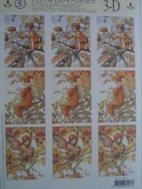 kn/416- A4 knipvel AANBIEDING flower fairies 5