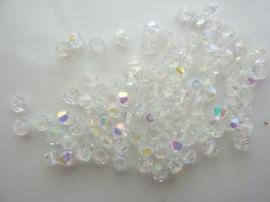 1953- 100 stuks imitatie swarovski cystal kralen bicone 4x3.5mm crystal AB