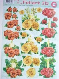 kn/450- A4 knipvel AANBIEDING foli art no.563 bloemen