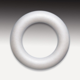 6762 123- 1 x styropor / piepschuim ring 12cm