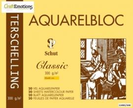 CE114985/3040- 20 vel Schut Terschelling aquarelbloc classic 300grams 30x40cm