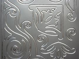 st1057- grote hoeken zilver 10x20cm