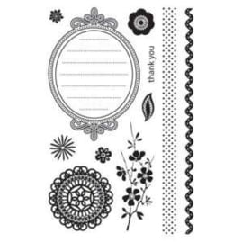 134.Z- clearstamps Basic Grey Crumpets  ca. 1 tot 15cm groot OPRUIMING