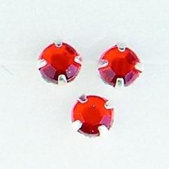 107007/0010- 12 stuks glazen rijg/naai strass steentjes 7mm rond kristal ruby