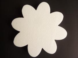 tempex bloem van 25cm breed en 2.5cm dik voor bv muurdecoratie