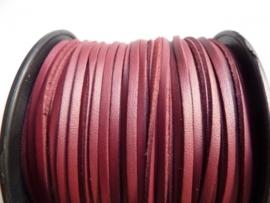 3 meter imitatie suede veter van 3mm breed roodbruin