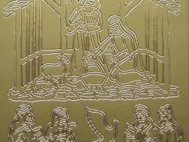 326- kerstbal goud 10x20cm