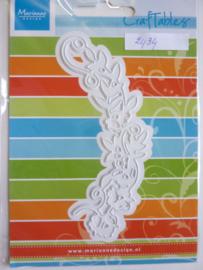 0002434- Marianne Design Craftables stencil bloemenrand 12cm - OPRUIMING