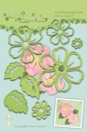 CE115645/0577- Le Crea Lea'bilitie snij- & embossingmal multi die flower