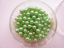100 x ronde glasparels in een doosje 4mm mintgroen  -  2219 539