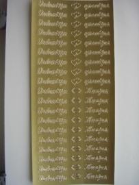 st538- valentijngroetjes goud 10x20cm
