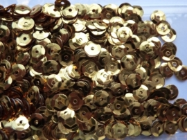 118372/508- 10 gram pailletten 6mm facon goud/metaal (grote hoeveelheid) SUPERLAGE PRIJS!