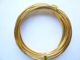5 meter aluminiumdraad (Wire&Wire draad) van 2mm dik goud