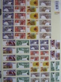 kn/356- A4 knipvel AANBIEDING guldens biljetten klein