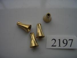 4 x metalen kralen 12x7mm toeter 2197