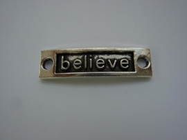 "CH.011.A- tussenplaatje voor armband ""believe"" 35x9mm"