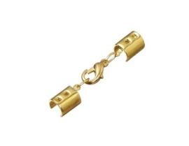 2mm veterklemmen compleet met sluiting goud - 002365/0375
