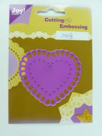 0002569- Joy Crafts stencil nr. 0019 - hartvorm 7x6cm OPRUIMING