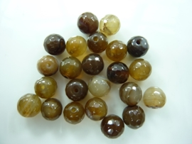 3699- 25 stuks naturel agaat kralen 8mm facet geslepen gemstone