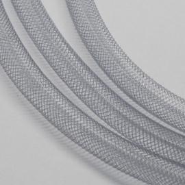 2 meter nylon gaasbuis netdraad 8mm grijs