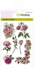 CE130501/1240- Craft Emotions clearstamps A6 - botanical rose garden