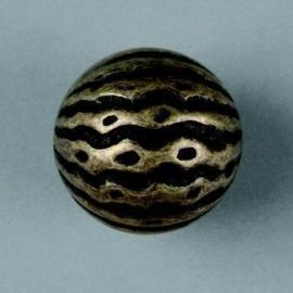 metalen kraal antiek goud 25mm 117465/2660