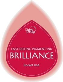 132019/1023- brilliance stempelkussen dew drops rocket red 3.5x5cm